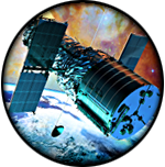 Space Illustration Button
