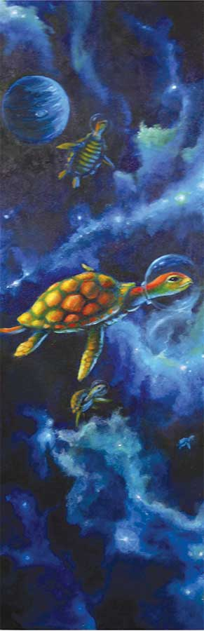 turtles in space