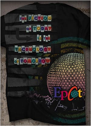 Epcot T-shirt Illustration