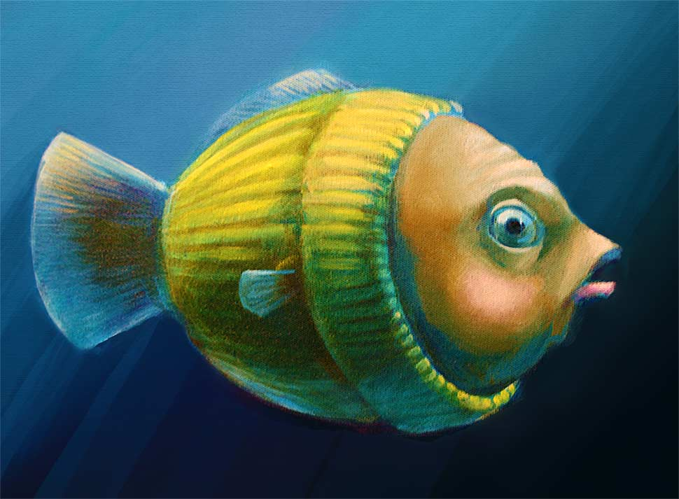 """Featured image for """"Study of a Worried Sweater Fish, LateralView"""""""