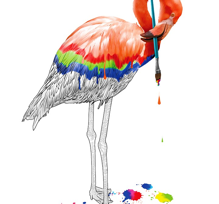 RGB Flamingo
