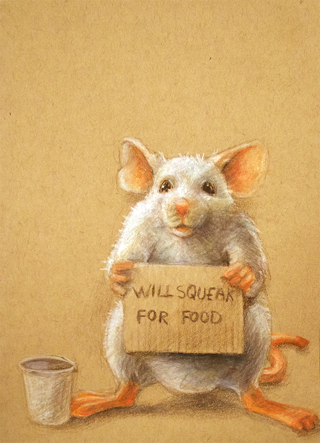 Will Squeak for Food