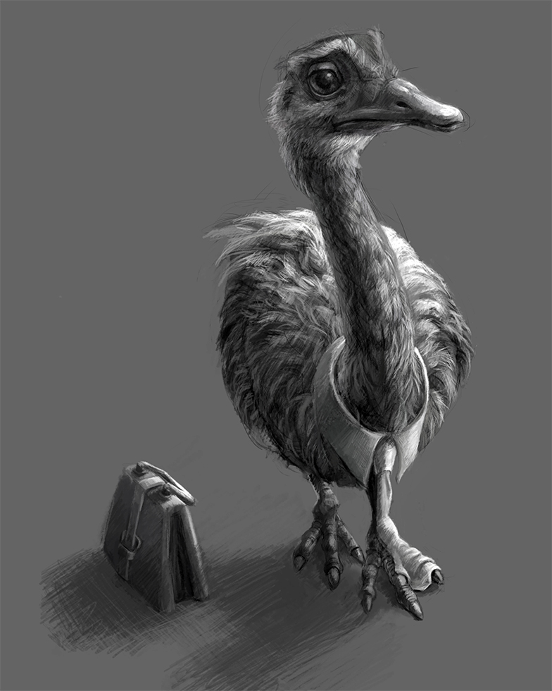 """Featured image for """"Working Emu Drawing"""""""